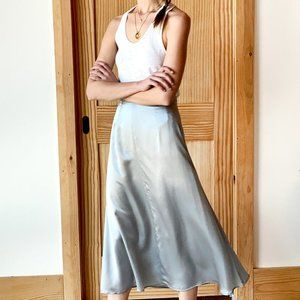 Emerson Fry MIDI SKIRT 2 - PLATINUM SILK NWT